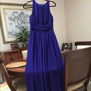 Beautiful elegant purple/cobalt blue evening dress